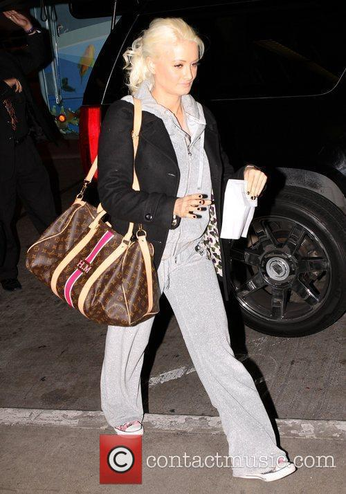 Holly Madison leaves LAX airport Los Angeles, California