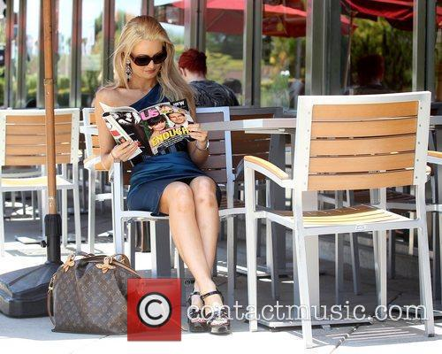 Seen out reading a copy of Us Weekly...