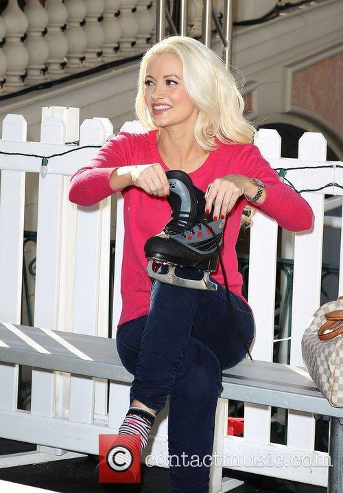 Holly Madison ice skates during Winter In Venice...