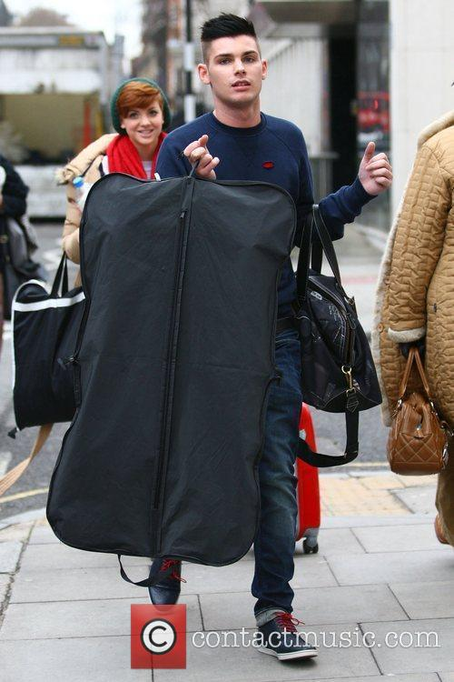 The cast of Hollyoaks arrive at London's Euston...