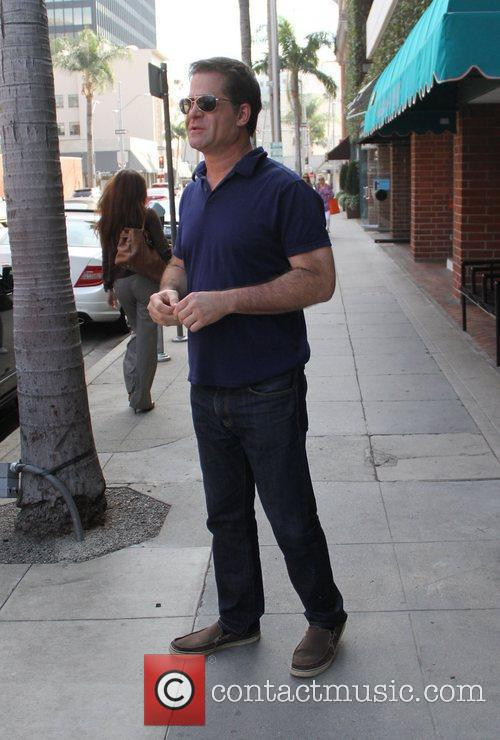 Todd Glass leaves a salon in Beverly Hills...