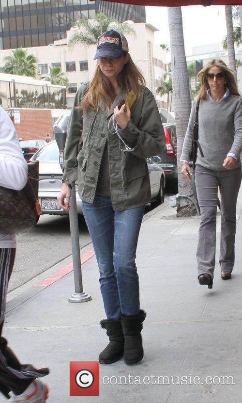 Calista Flockhart visits the doctors office in Beverly...