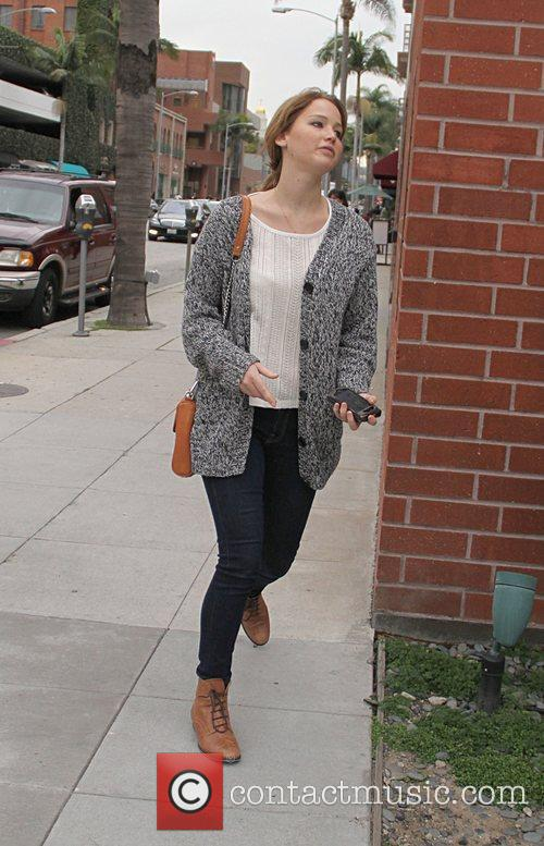 Jennifer Lawrence visits the doctors office in Beverly...
