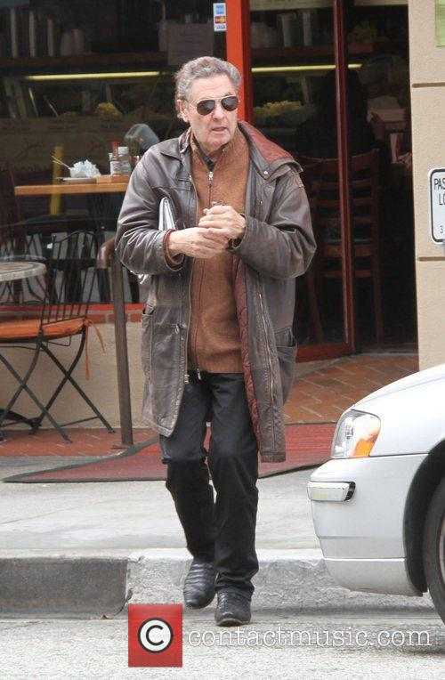 Joseph Bologna leaves a deli in Beverly Hills...