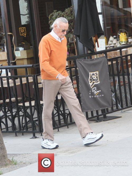 Stan Lee visits the doctors office in Beverly...