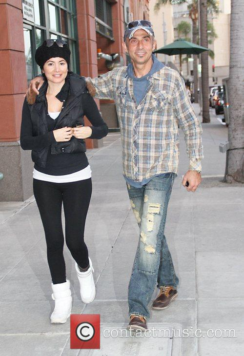 Shaun Toub out and about with his wife...