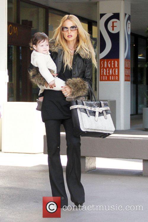 Rachel Zoe and her son Skyler browse furniture...