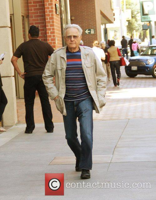 Larry Merchant out and about Hollywood, California