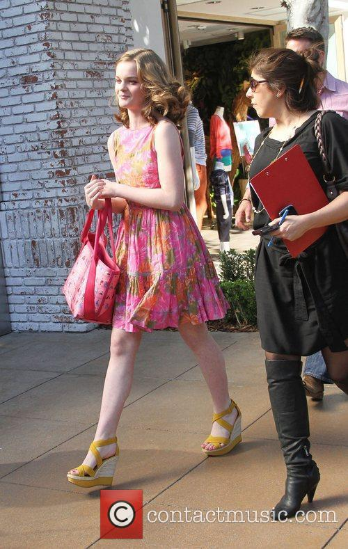 Kerris Dorsey makes her way through The Grove...