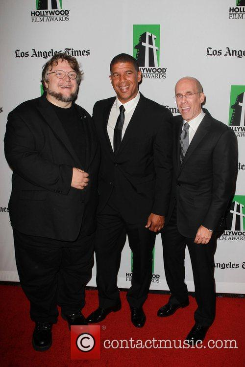 Guillermo, Toro, Peter Ramsey, Jeffrey Katzenberg and Beverly Hilton Hotel 2