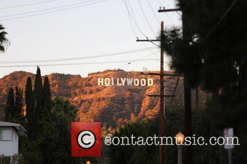 Part of the iconic Hollywood sign was missing...