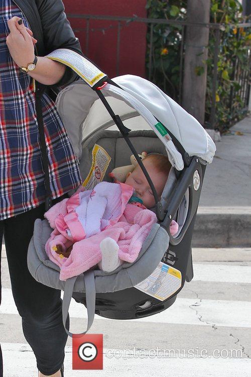 Baby Haven Warren snoozes away in a baby...