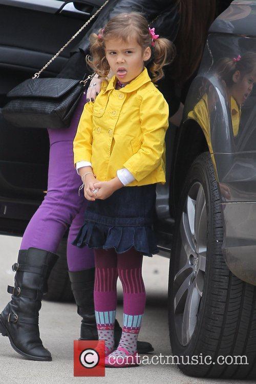 Jessica Alba's daughter Honor Marie Warren arrives for...
