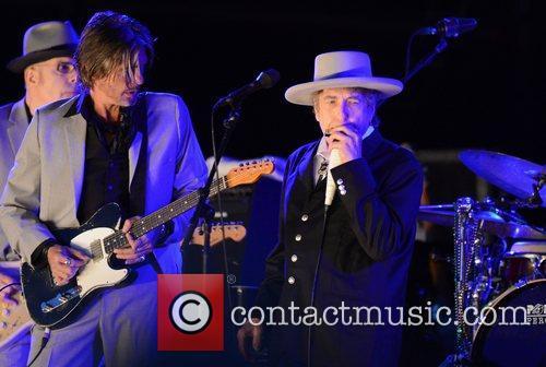 Bob Dylan performing live at the Hop Farm...