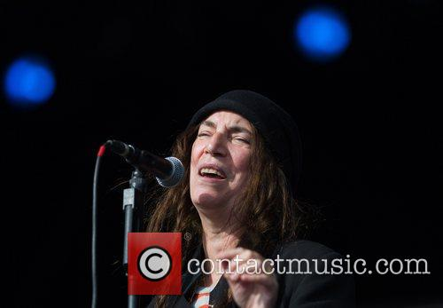 Patti Smith performing live at the Hop Farm...