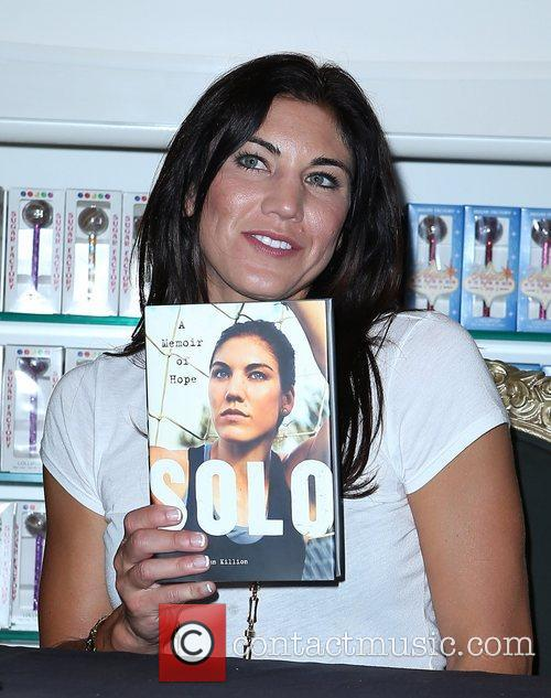 olympic soccer player hope solo promote her 5922654