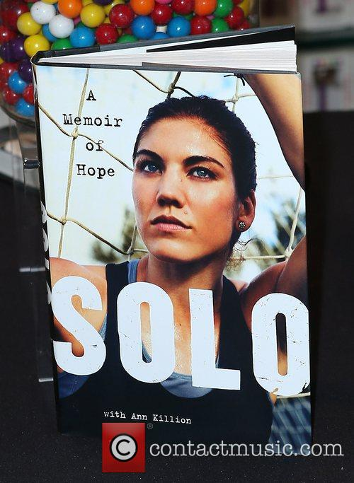 Olympic soccer player Hope Solo promote her book...