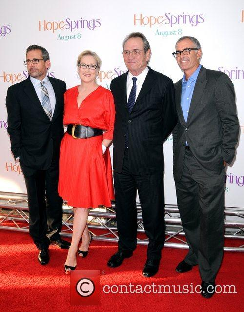 Steve Carell, David Frankel, Meryl Streep and Tommy Lee Jones 4