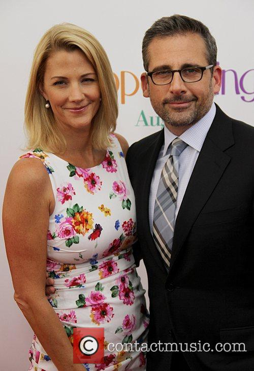 Nancy Walls and Steve Carell Premiere of 'Hope...
