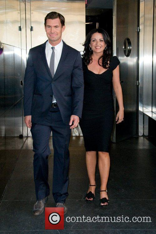 Jeff Lewis and Jenni Pulos  leaving a...