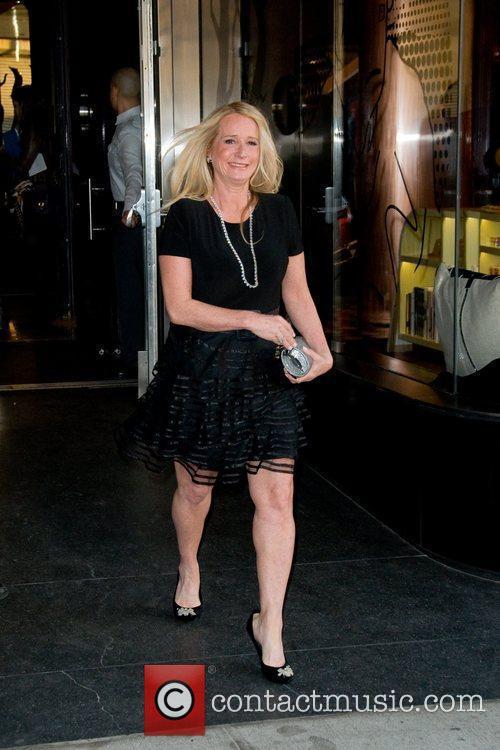 Kim Richards  leaving a Manhattan hotel ahead...