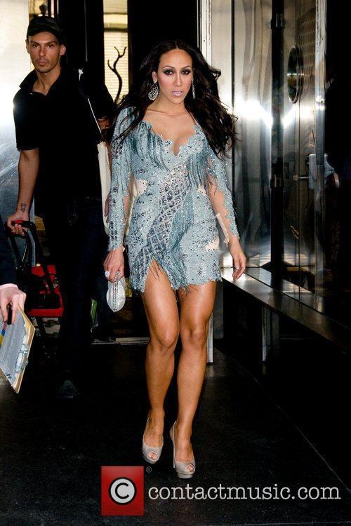 Melissa Gorga  leaving a Manhattan hotel ahead...