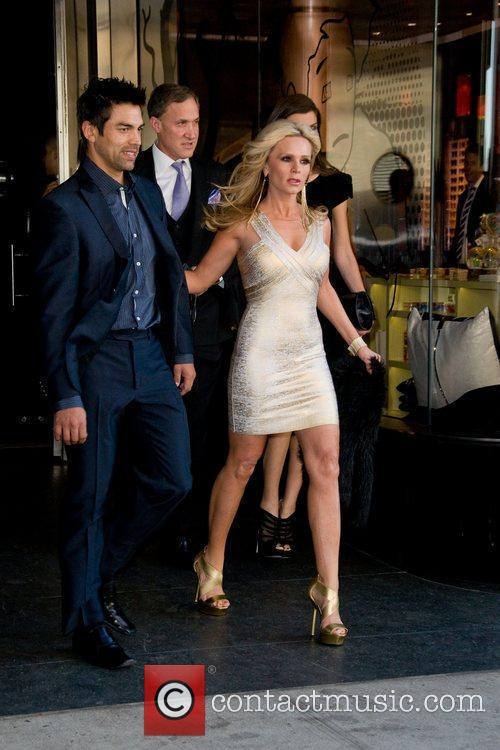Tamra Barney  leaving a Manhattan hotel ahead...