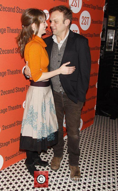 Michelle Federer and Norbert Leo Butz Opening night...