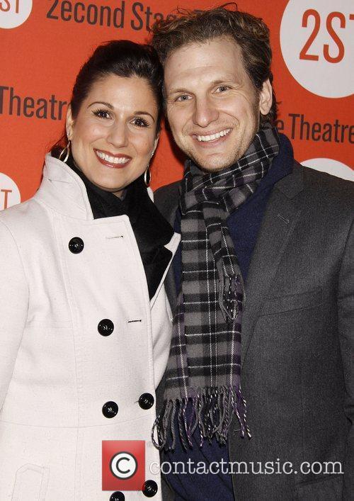 Stephanie J. Block and Sebastian Arcelus Opening night...