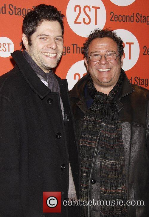 Tom Kitt and Michael Greif Opening night of...