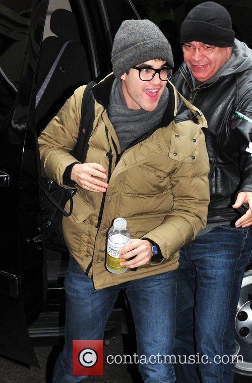Actor Darren Criss is seen arriving at the...