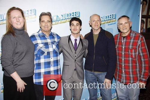 Beau Bridges, Craig Zadan and Darren Criss