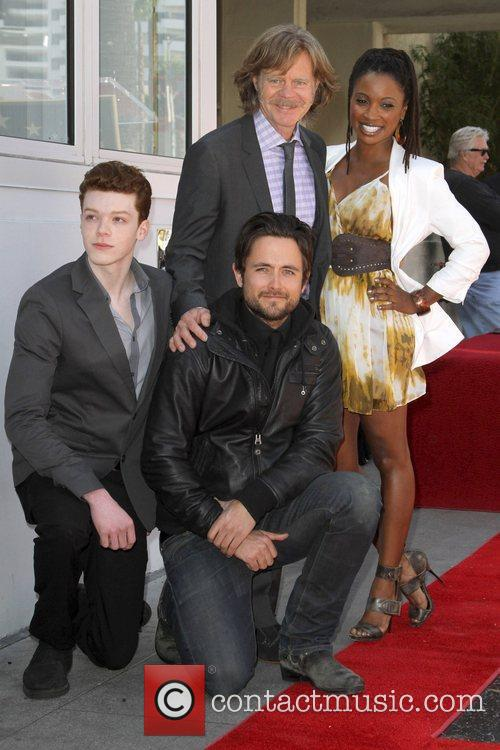Cameron Monaghan, Justin Chatwin, William H Macy and Walk Of Fame 3