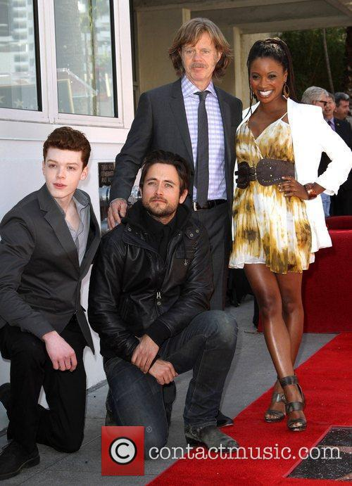 Cameron Monaghan, Justin Chatwin, William H Macy and Walk Of Fame 4