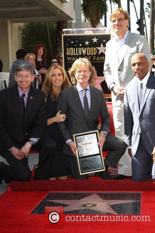 William H Macy, Aaron Sorkin and Walk Of Fame 3
