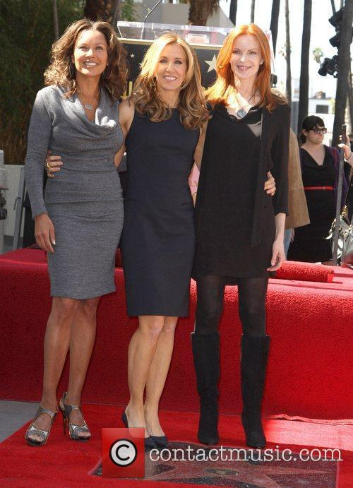 Vanessa Williams, Marcia Cross and Walk Of Fame 4