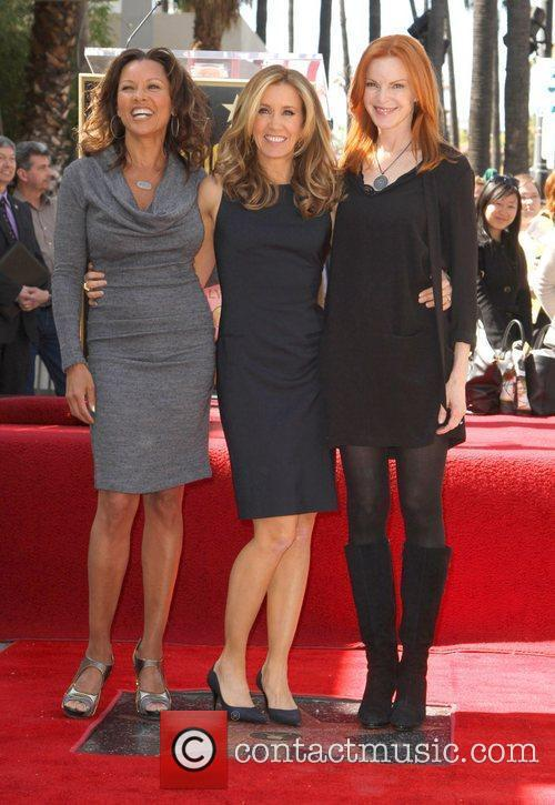 Vanessa Williams, Marcia Cross and Walk Of Fame 5