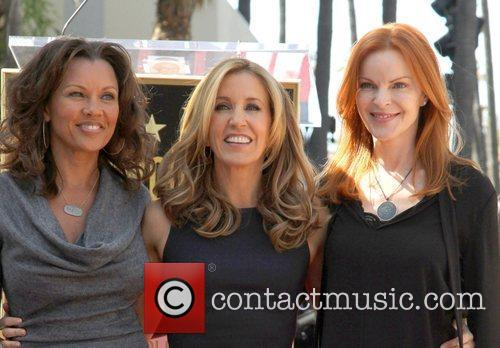Vanessa Williams, Marcia Cross and Walk Of Fame 1