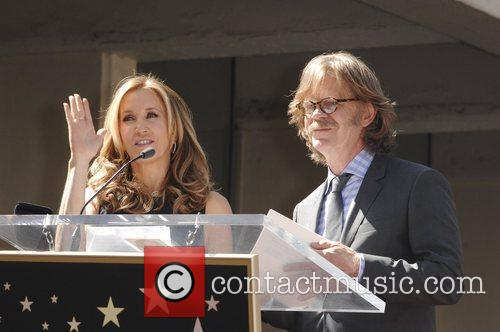 Felicity Huffman, William H Macy and Walk Of Fame 7