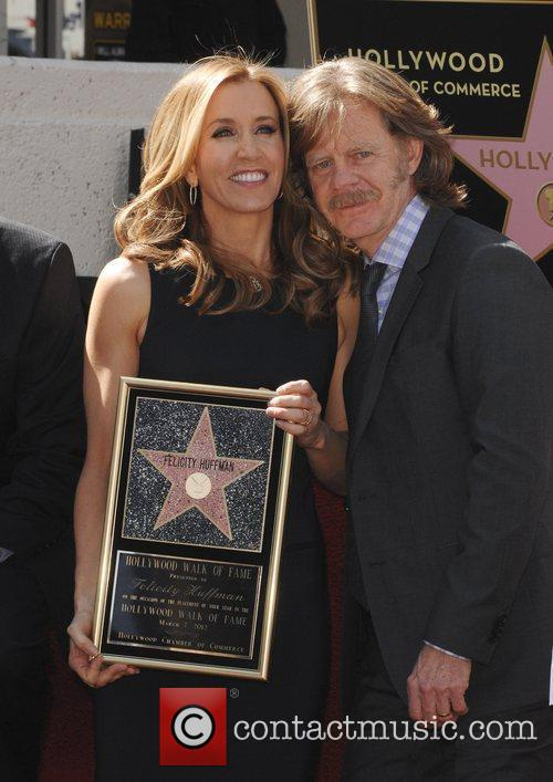 Felicity Huffman, William H Macy and Walk Of Fame 8