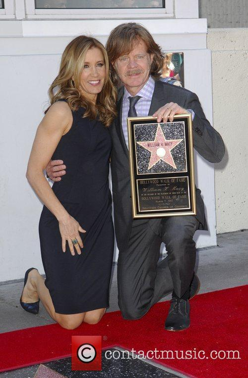 Felicity Huffman, William H Macy and Walk Of Fame 9