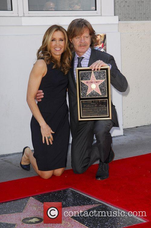 Felicity Huffman, William H Macy and Walk Of Fame 10