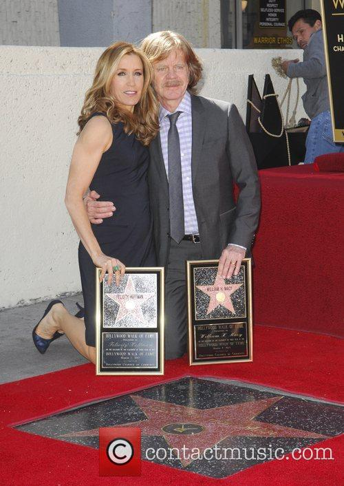 Felicity Huffman, William H Macy and Walk Of Fame 11
