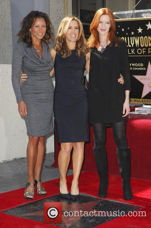 Vanessa Williams, Felicity Huffman, Marcia Cross and Walk Of Fame 2