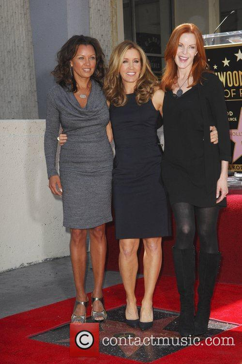 Vanessa Williams, Felicity Huffman, Marcia Cross and Walk Of Fame 3