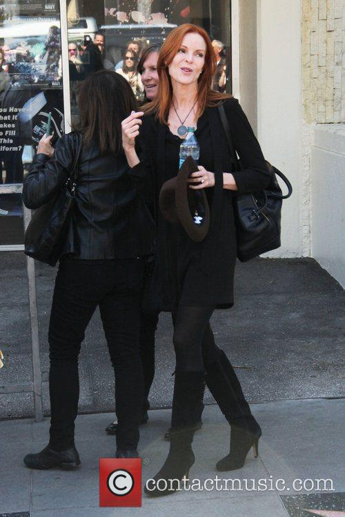 Marcia Cross and Walk Of Fame 9