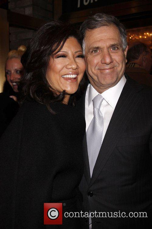 Julie Chen and Leslie Moonves attending a performance...