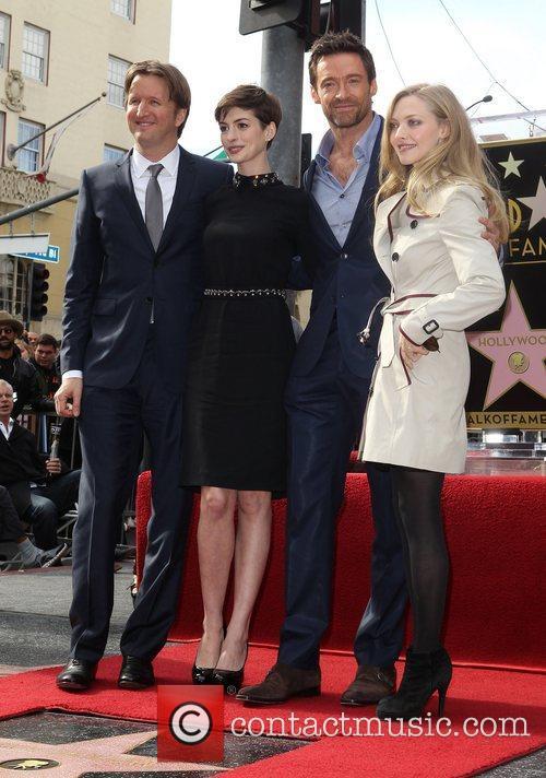 Tom Hooper, Anne Hathaway, Hugh Jackman and Amanda Seyfried 5
