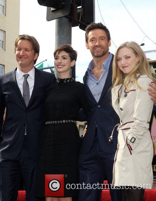 Tom Hooper, Anne Hathaway, Hugh Jackman and Amanda Seyfried 2