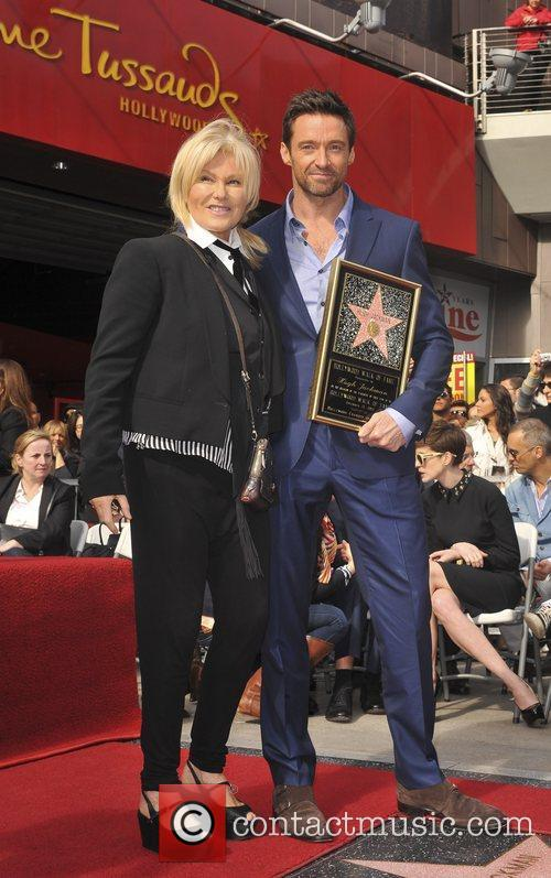 Hugh Jackman is honoured with a Hollywood Star...